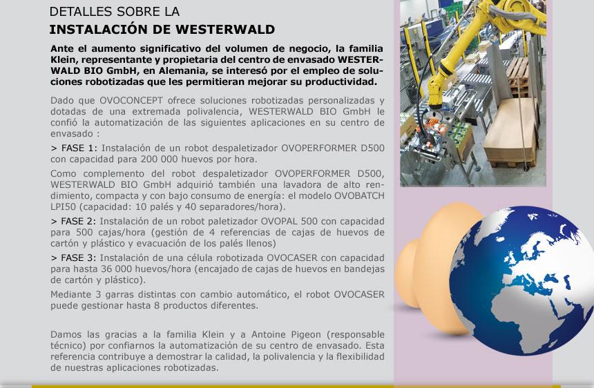 DETALLES SOBRE LA INSTALACIÓN DE WESTERWALD